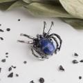 Брошь-Кулон паук малый лазурит