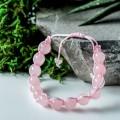 Браслет шар №8 кварц розовый шамбала
