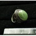 Кольцо из нефрита, овал, 18х13мм