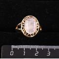 Кольцо c розовым кварцем, греческое, 14х10мм