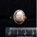 Кольцо c яшмой песочной, греческое, 14х10мм