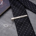 """Зажим для галстука стальной """"Классический"""" галкой, цвет серебро"""