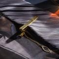 """Зажим для галстука стальной """"Классический"""" со стразой, цвет белый, цвет золотистый"""