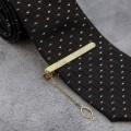 """Зажим для галстука стальной """"Классический"""" галка, цвет золото"""
