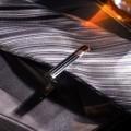 """Зажим для галстука стальной """"Классический"""" округлый с эмалью, цвет чёрный, цвет серебристый"""