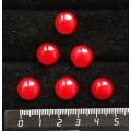 Агат красный (тонировка под коралл), кабошон круг 12мм