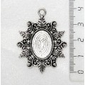 "Основа для кулона ""папоротник"", сеттинг овал 18х13мм, цвет ант. серебро"