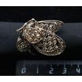"""Кольцо для платка """"бабочка"""", стразы, цвет золотистый"""