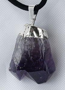 Аметист кристалл, кулон